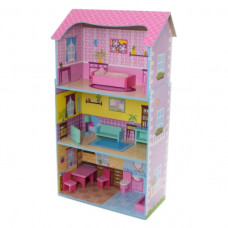 Деревянный домик для кукол Bambi MD 2202