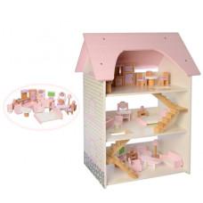 Деревянный домик для кукол Bambi MD 2256