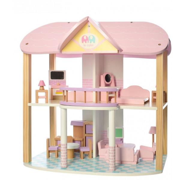 Деревянный домик для кукол Bambi MD 2258