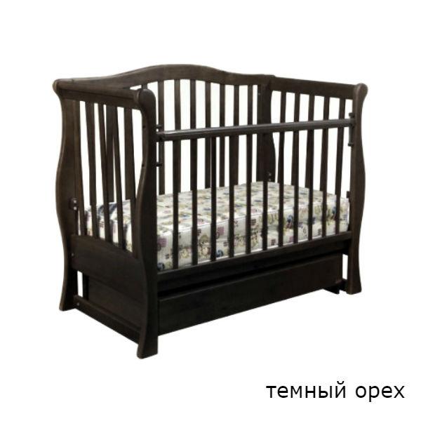 Кроватка-диван Laska-M VIVA PREMIUM с ящиком орех, темный орех