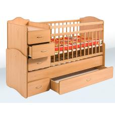 Кровать-трансформер Гойдалка с ящиком и тумбой 2216