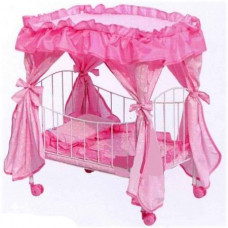 Кроватка для кукол Melogo Metr+ 9350 Розовый
