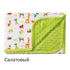 Двухстороннее одеяло BabyOno Пузырьки Хлопок 75х100 см 1410