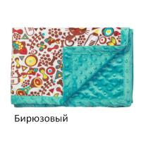 Одеяльце двухстороннее BabyOno Пузырьки микрофибра 75х100 см 1407