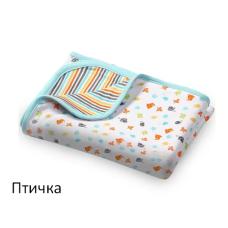 Одеяльце двухстороннее хлопковое BabyOno 75х100 см 821