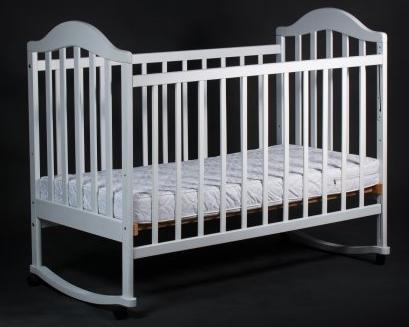 Кроватка Laska-M Наполеон без ящика (белый)