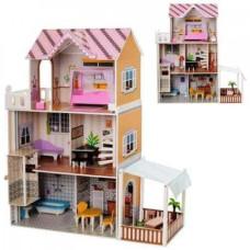 Деревянный домик для кукол Bambi MD 2150
