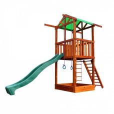 Деревянный домик с горкой Sportbaby Babyland-1