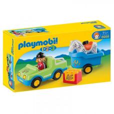 Игровой набор Playmobil Автомобиль с прицепом для лошадей (6958)