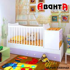 Детская кроватка-трансформер Аванта SKY