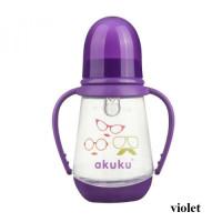 Бутылочка с ручками 125 мл. Akuku A0008 violet