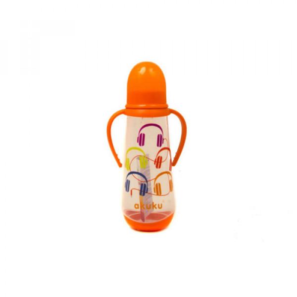 Бутылочка с ручками 250 мл. Akuku A0009 orange