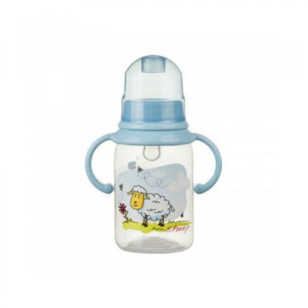 Бутылочка с ручками 125 мл. Akuku A0012 blue