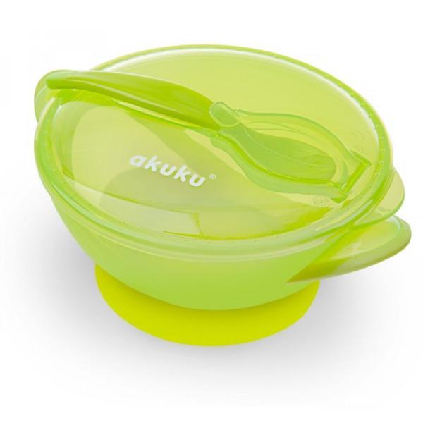Набор посуды (на присоске) Akuku A0454 green