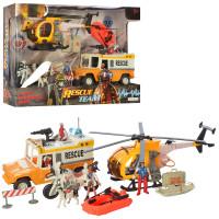 Игровой набор с транспортом Спасатели Bambi F120-18