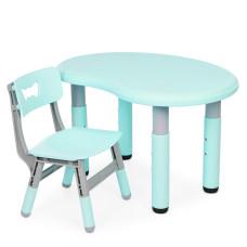 Столик со стульчиком Bambi Peanut-5 (mint/grey)