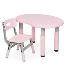 Столик со стульчиком Bambi Peanut-8 (pink/grey)