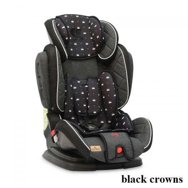 Автокресло Lorelli MAGIC PREMIUM (9-36кг) (black crowns)
