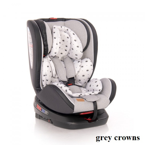 Автокресло Lorelli NEBULA ISOFIX (0-36кг) (grey crowns)