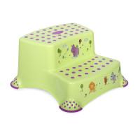 Детская ступенька двойная Lorelli HIPPO (green)