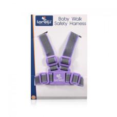 Вожжи Lorelli (grey/violet)