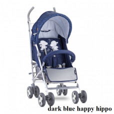 Коляска Lorelli IDA (dark blue happy hippo)
