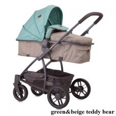 Коляска-трансформер Lorelli S-500 SET с автокреслом (green/beige teddy bear)