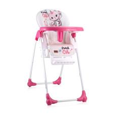 Стульчик для кормления Lorelli DULCE (pink cat)