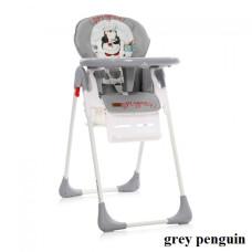 Стульчик для кормления Lorelli TUTTI FRUTTI (grey penguin)