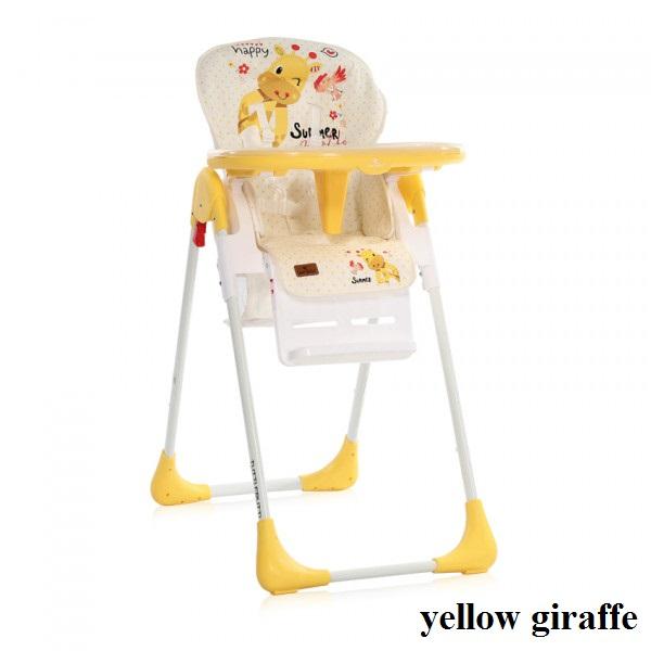 Стульчик для кормления Lorelli TUTTI FRUTTI (yellow giraffe)