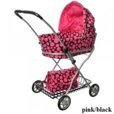 Коляска для кукол Melogo 9325 (pink/black)