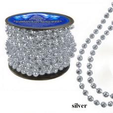 Бусы новогодние NewYEAR 8346 (silver)