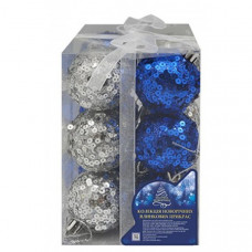 Набор елочных шаров NewYEAR R28100-5 (blue/silver)