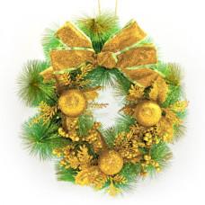 Рождественский венок NewYEAR R87311 (gold)