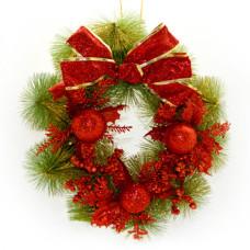 Рождественский венок NewYEAR R87311 (red)