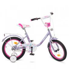 Детский двухколесный велосипед Profi Y1683 Flower (violet)