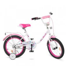 Детский двухколесный велосипед Profi Y1685 Flower (white/pink)