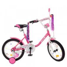 Детский двухколесный велосипед Profi Y1882 Flower (crimson)