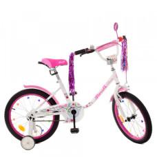 Детский двухколесный велосипед Profi Y1885 Flower (white/pink)