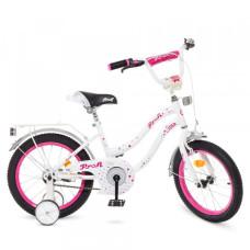 Детский двухколесный велосипед Profi Y1894 Star (white/crimson)